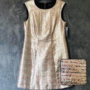 NWT Tahari Metallic Dress